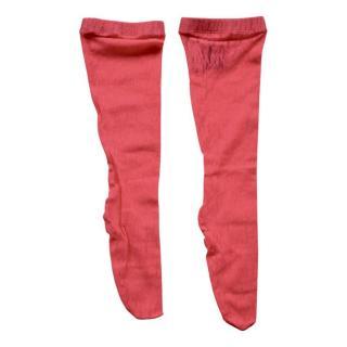 Gucci Pink Floral GG Runway Socks