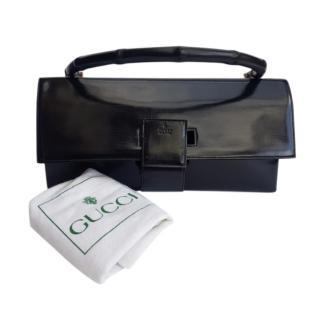 Gucci Black Patent Top Handle Bag