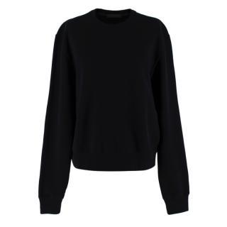 Wardrobe.NYC Black Cotton Sweatshirt
