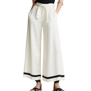 Polo Ralph Lauren Cream Wide Leg Pants