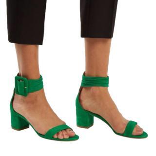 Aquazzura Emerald Green Casablanca 55 Sandals