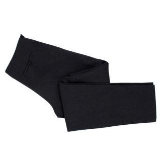 Fendi Dark Gray Wool Blend Stretch Flannel Wrap Trousers