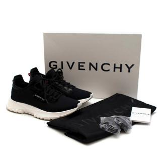 Givenchy Black Spectre Leather-Trimmed Runner Trainers