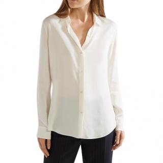 Theory Ivory Silk Blouse