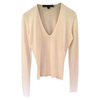 Ralph Lauren Black Label Silk & Cashmere Top