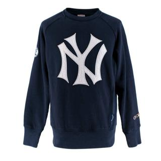 Champion Navy NY Yankees Cooperstown Collection Crewneck