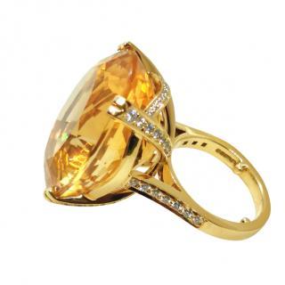 Bespoke 18ct Yellow Gold Citrine & Diamond Cocktail Ring