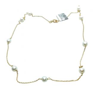 Bespoke Akoya Pearl By The Yard 18ct Gold Necklace