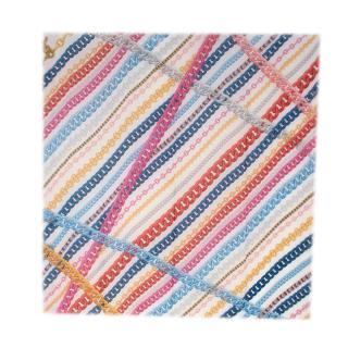 Chanel Multicolor Chain Print 140 Cashmere Scarf