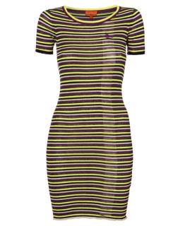 Vivienne Westwood Linen Blend Striped Dress
