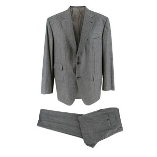 Donato Liguori Grey Cashmere Blend Tailored Suit
