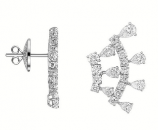 William & Son 18ct White Gold Novastella Earrings