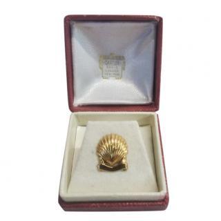 Cartier 18ct Yellow Gold Shell Pin Brooch