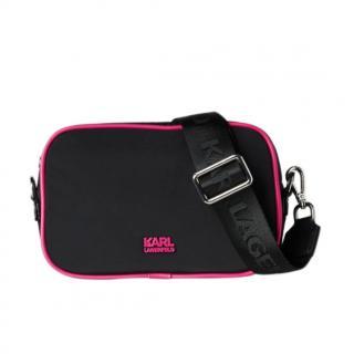 Karl Lagerfeld K Black & Pink Crossbody Bag
