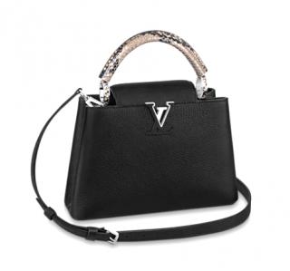 Louis Vuitton Black Taurillon Leather Capucines BB