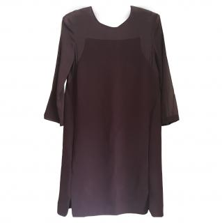 The Kooples Burgundy Shift Dress