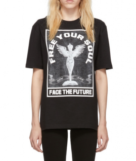 McQ by Alexander McQueen Black Free Your Soul T-Shirt