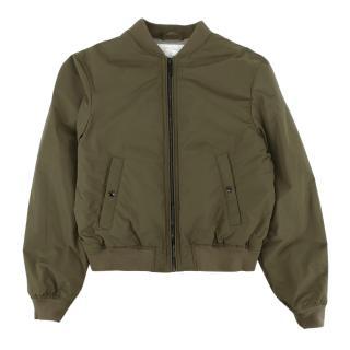 Burberry Kids 14Y Green Printed Bomber Jacket