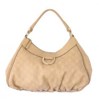 Gucci Beige Guccissima D Ring Handbag