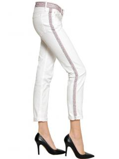 Isabel Marant Etoile White Embroidered Jeans