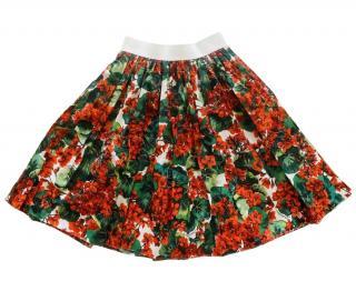 Dolce & Gabbana geranium print cotton skirt