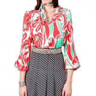 Rixo patterned Orlagh blouse