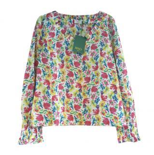 Rico floral cotton Hailey top