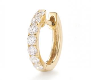 Robinson Pelham 14kt Yellow Gold Diamond Orb Single Hoop Earring