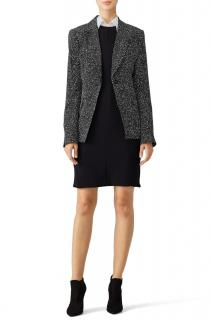 DVF Black & White Charlotte Tailored Jacket