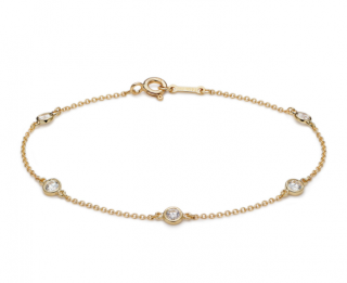 Tiffany & Co, Elsa Peretti Diamonds by the Yard 18kt Gold Bracelet