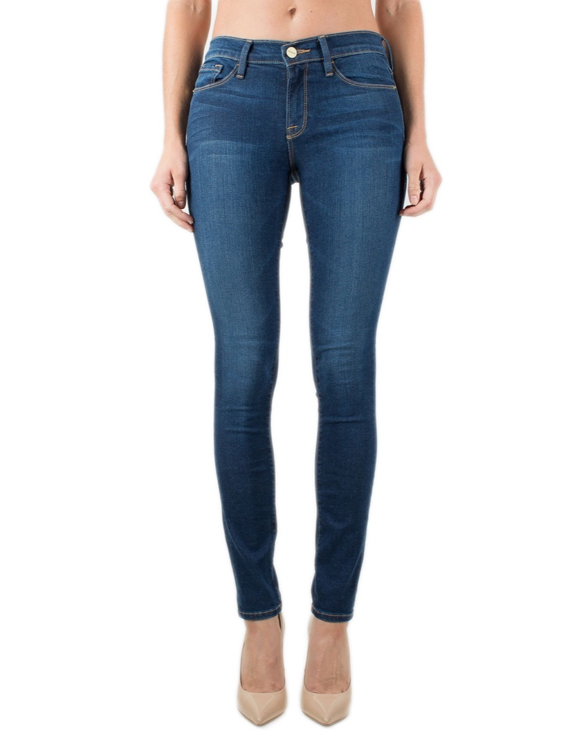Frame Blue Denim Le Skinny De Jeanne Jeans