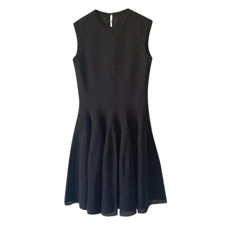 Dior Black Silk Blend Skater Dress