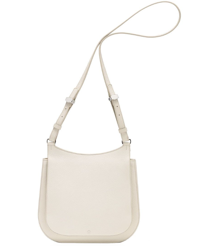 The Row Cream Hunting 11 Leather Shoulder Bag