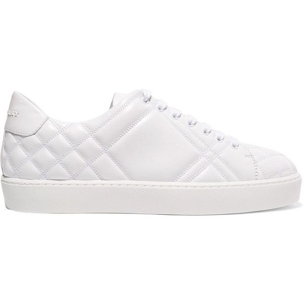 Burberry Optic White Quilted Westford Trainers