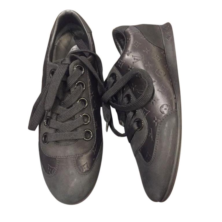 Louis Vuitton Black Monogram Sneakers