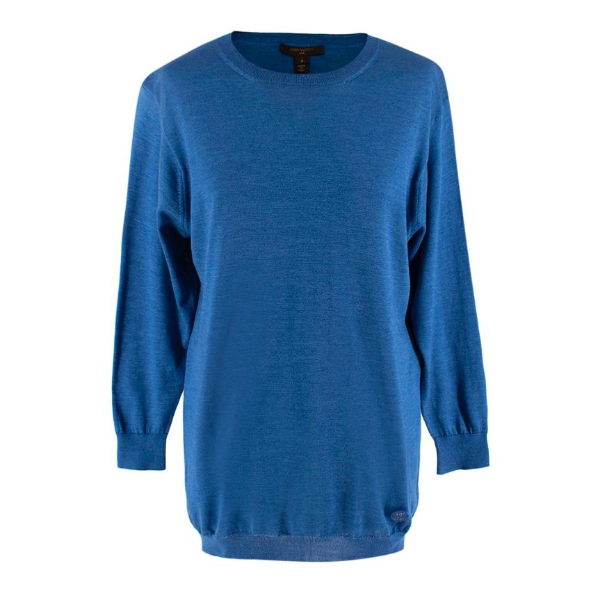 Louis Vuitton Blue Cotton Knit Sweater