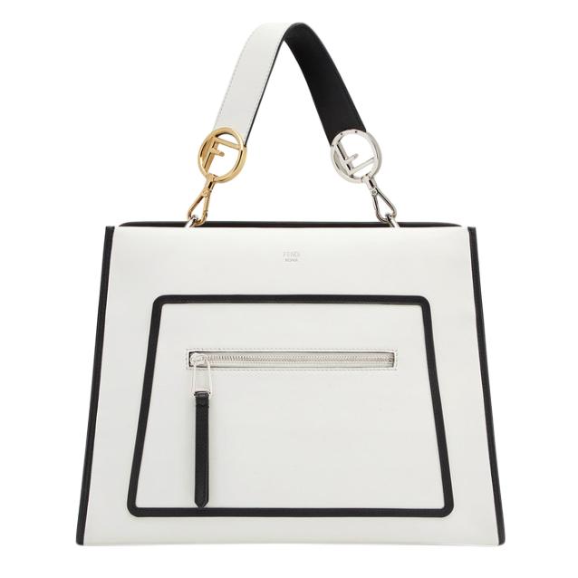 Fendi White Calfskin Small Runaway Shoulder Bag