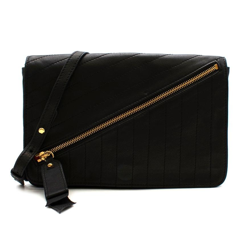 Christian Louboutin Black Leather Trophe Twist Pocket Shoulder Bag