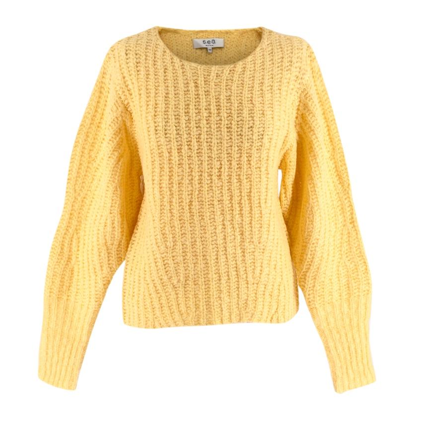 Sea New York Yellow Wool blend Knit Sweater