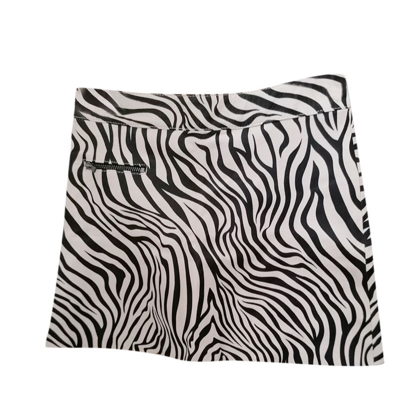 Bonpoint Zebra Print Kids 10Y Leather Skirt