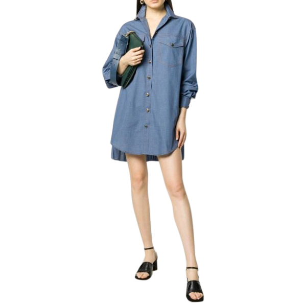 Philosophy di Lorenzo Serafini denim shirt dress