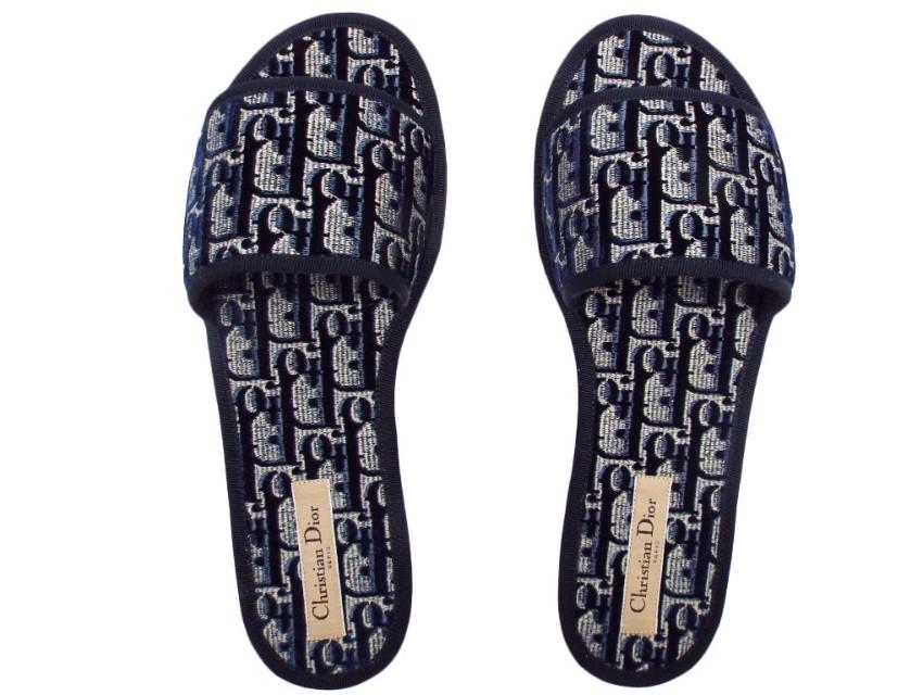 Dior Blue Oblique Dior Chez Moi Slide