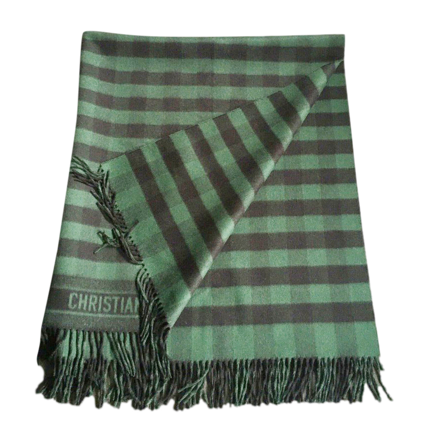 Dior Green & Black Limited Edition Embroidered Blanket 140cm x 140cm