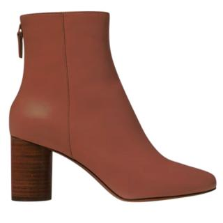 Sandro Sacha Tan Smooth Leather Ankle Boots