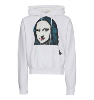 Off-white C/o Virgil Abloh Mona Lisa-print Cotton-jersey Hoodie