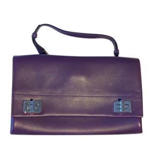 Prada Purple Leather Shoulder Flap