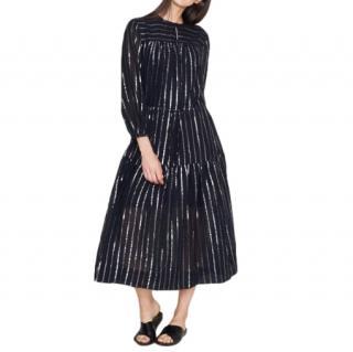 Isabel Marant Black Metallic Striped Dress