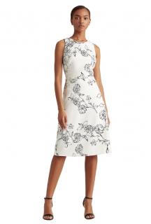 Lauren Ralph Lauren White & Black Floral Printed Dress