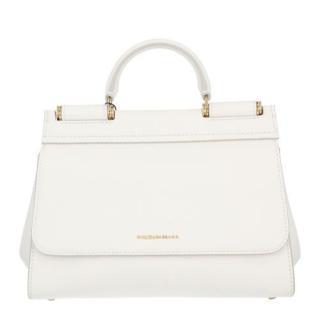 Dolce & Gabbana White Leather Sicily Bag