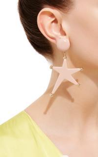 Marni Pink Star Pendant Drop Earrings